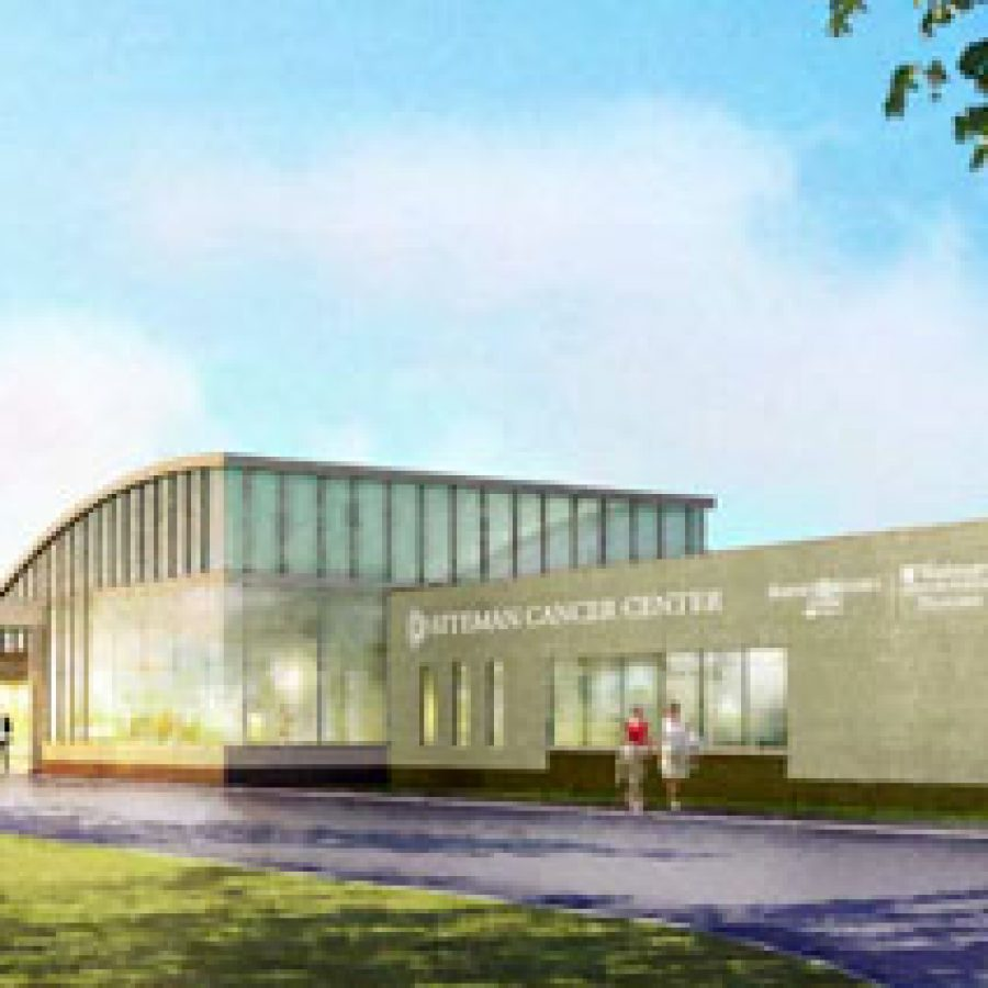 Construction of the new Alvin J. Siteman Cancer Center near Interstate 55 and Butler Hill Road is expected to be complete by early next year.