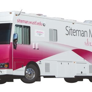 MONDAY, MARCH 21, 2016 - This is the Siteman Cancer Research Mammogram van. ©Photo by Jerry Naunheim Jr.