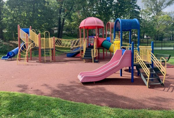 The playground at Spellman Park in Crestwood.