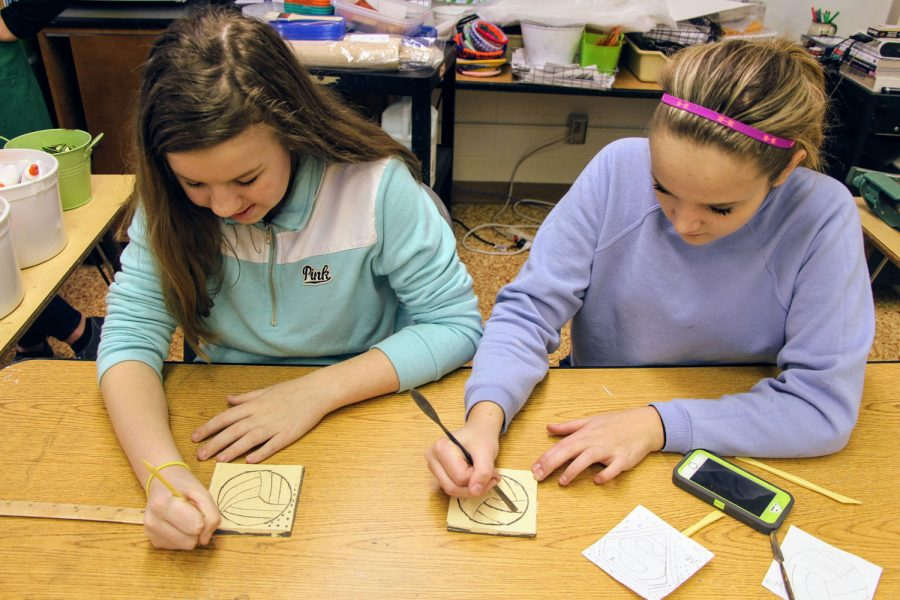 Sperreng Middle eighth-graders in 2016, who later became part of the Lindbergh High Class of 2020, create tiles in 2016 to commemorate their time at the schools.