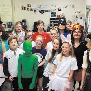 Sperreng Middle School students dress up to celebrate $10,000 in parent donations