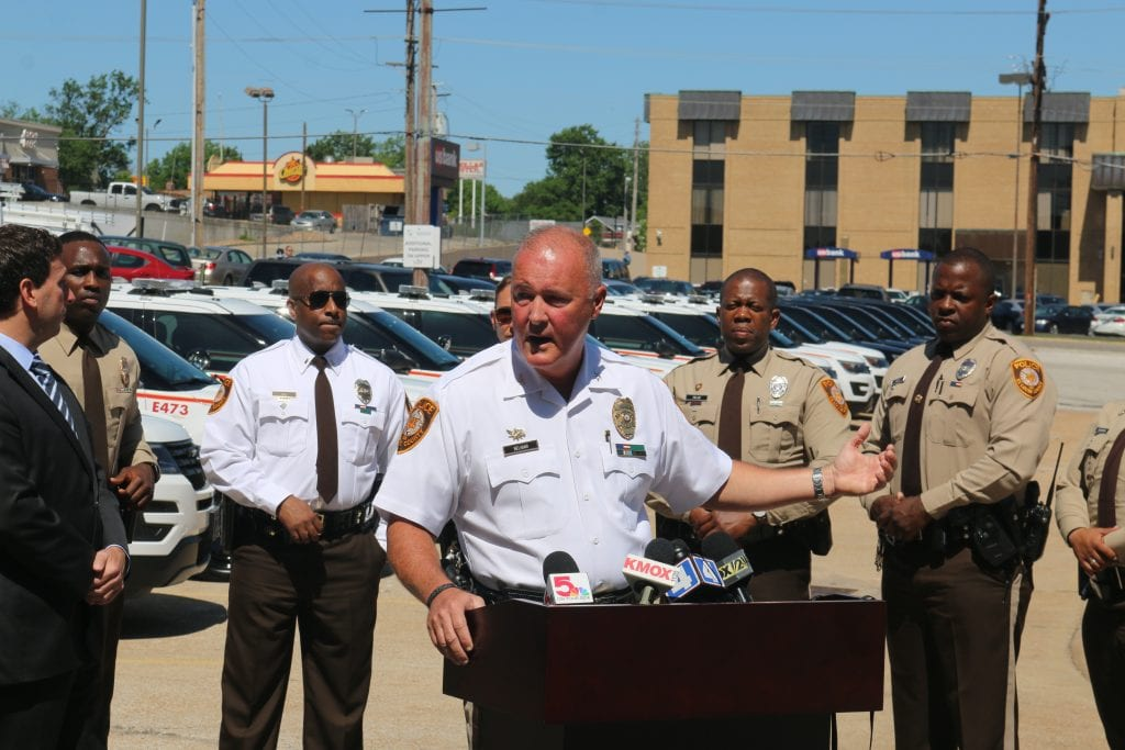 Chief Jon Belmar announces a new police unit, the Special Response Unit, in June. Photo by Jessica Belle Kramer.