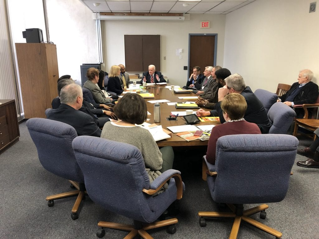 The 2019 St. Louis County Charter Commission convenes for its first meeting Feb. 21. Photo by Erin Achenbach.