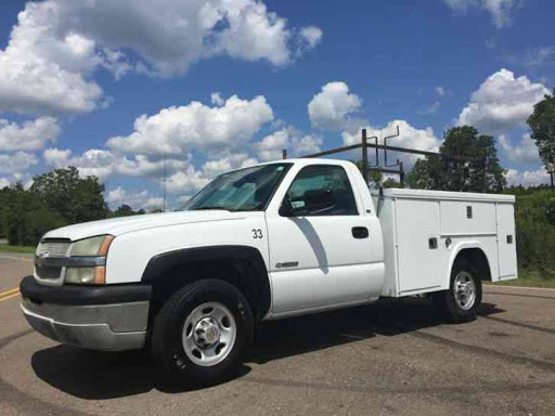 This photo provided by the St. Louis County Police Department shows what the stolen truck looks like, although it is a different truck.