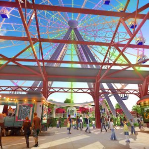Pictured above: A rendering of The St. Louis Wheel, a 200-foot Ferris wheel, set to be built by the end of the month at Union Station and take its first riders by October, ahead of the possible opening of the St. Louis Aquarium at Union Station at the end of the year. The $187 million family entertainment complex is under construction now.