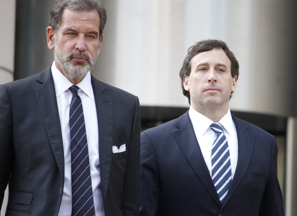 Steve+Stenger%2C+right%2C+and+his+lawyer+Scott+Rosenblum+leave+the+Thomas+F.+Eagleton+Courthouse+in+downtown+St.+Louis+following+Stengers+sentencing+Friday%2C+Aug.+9.+Stenger+was+sentenced+to+46+months+in+prison+and+will+report+Sept.+21.+Photo+by+Erin+Achenbach.+