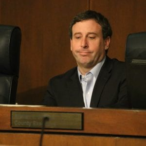 County Executive Steve Stenger at the Aug. 1 County Council meeting. Photo by Jessica Belle Kramer.