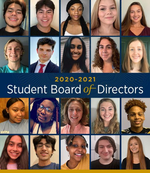 Pictured: The student board of directors of the St. Louis Fed, including three South County students.