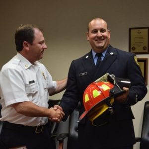 The Mehlville Fire District board promotes Tom Viviano to captain