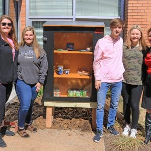 New 'food locker' outside Trautwein Elementary ensures that no student goes hungry