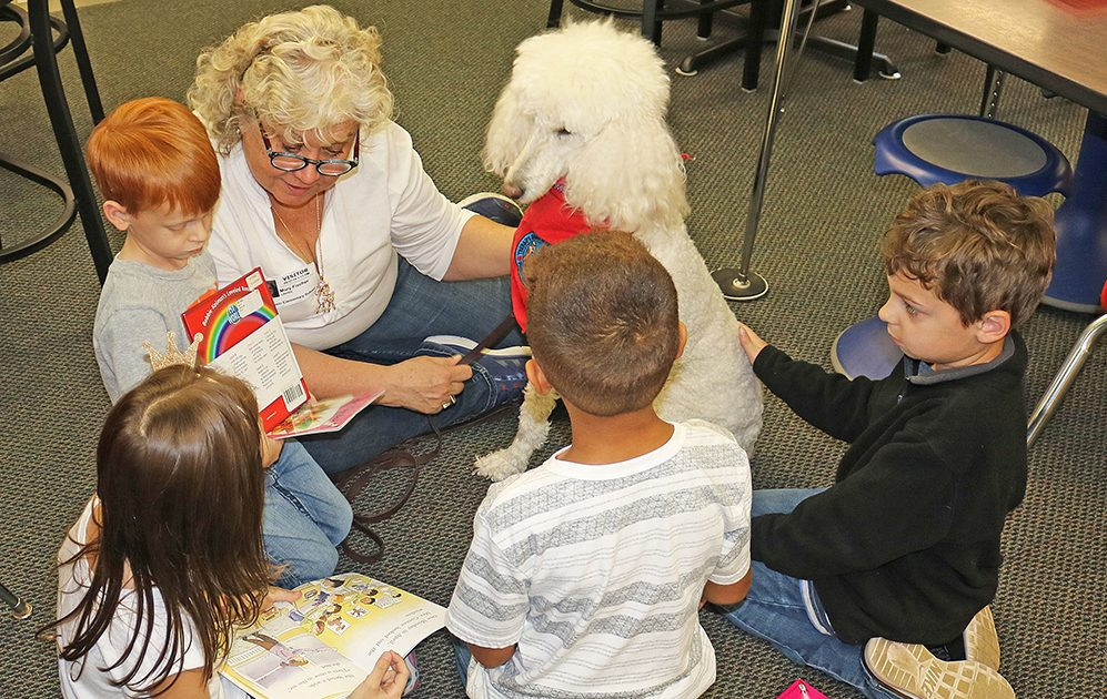 Students%27+reading+goes+to+the+dogs