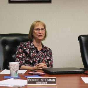Mehlville Fire Protection District Board of Directors Treasurer Bonnie Stegman speaks during a meeting in summer 2018. Photo by Jessica Belle Kramer.