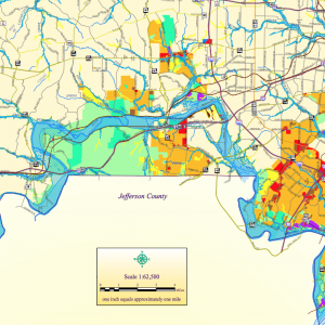 Pictured above: A map of the unincorporated portions of south St. Louis County.