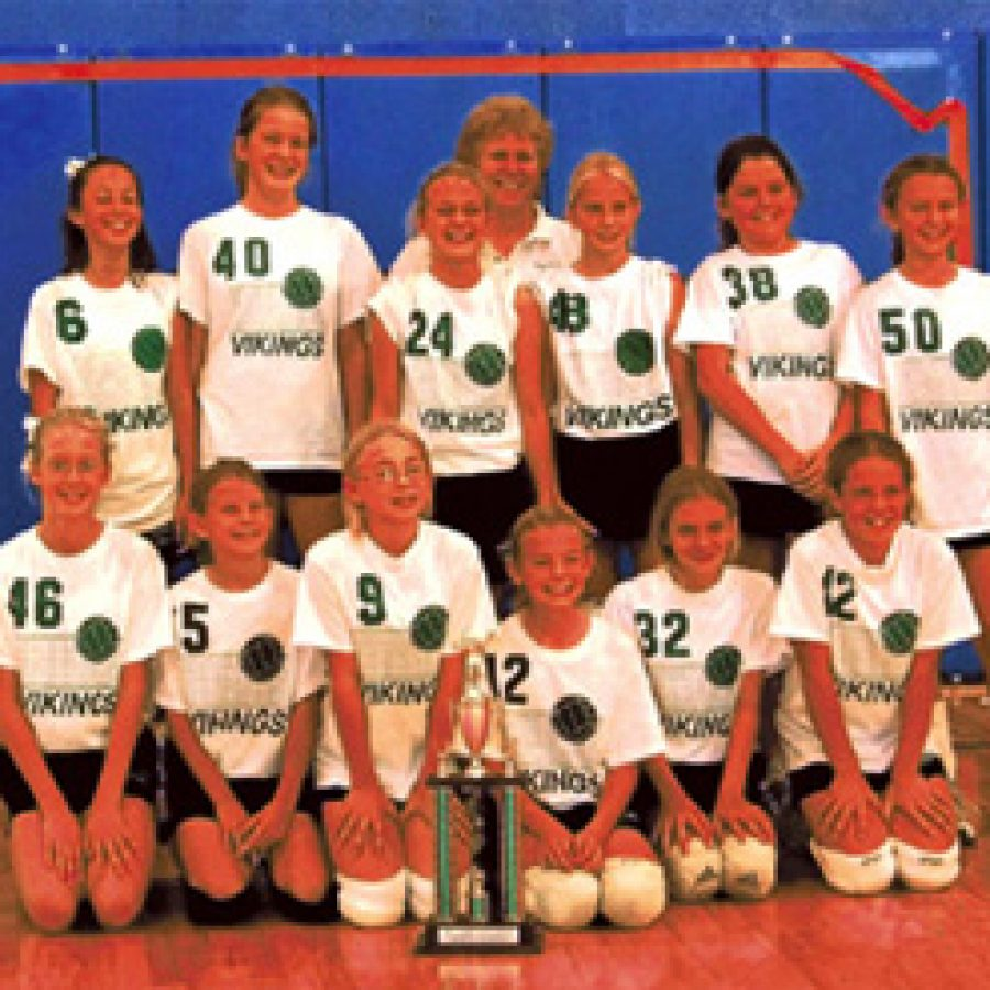 The Green Park Lutheran School girls' fifth- and sixth-grade volleyball green team recently won first place in the St. John's Lutheran School Tournament in Ellisville. Green Park's first match was against Word of Life with wins of 15-8, 15-9. The second match was against St. John's with wins of 15-5, 15-8. The championship match was against St. Paul of Des Peres with wins of 15-6, 15-11. Team members, front row, from left, are: Amanda Hesser, Lauren Dalton, Rachel Stepanovic, Madison Schoen, Allison Justus and Sam Schauwecker. Back row, from left, are: Bethany Poppitz, Sarah Kirkman, Kate Wilson, Coach Terri Dalton, Jill Harmon, Kallie Federhofer and Jenny Wuerffel.