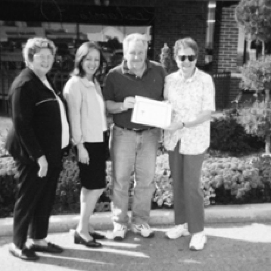 Rich & Charlie's, 4487 Lemay Ferry RoadDottie Warren, manager Theresa Wich, gardner Rod Sterling and club President Melba George