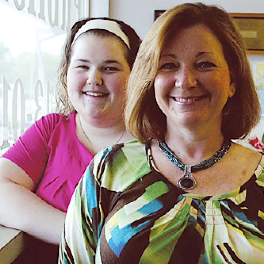 Cindy Wolf, right, is the Call's 2010 Mother of the Year. She was nominated by her daughter Amanda Mehrtens, left. In nominating her mother, Mehrtens wrote, 'She is always making sure everyone else has what they need before she would even consider doing something for herself.' Bill Milligan photo