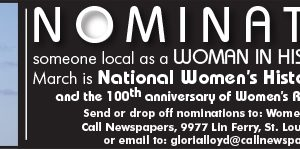 Nominate someone local as a South County 'Woman in History'