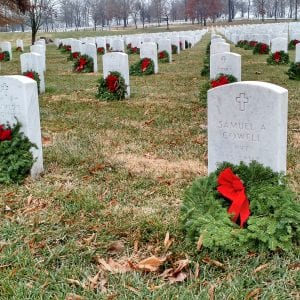 Record-setting number of wreaths set at Jefferson Barracks in Wreaths Across America, captured by drone footage