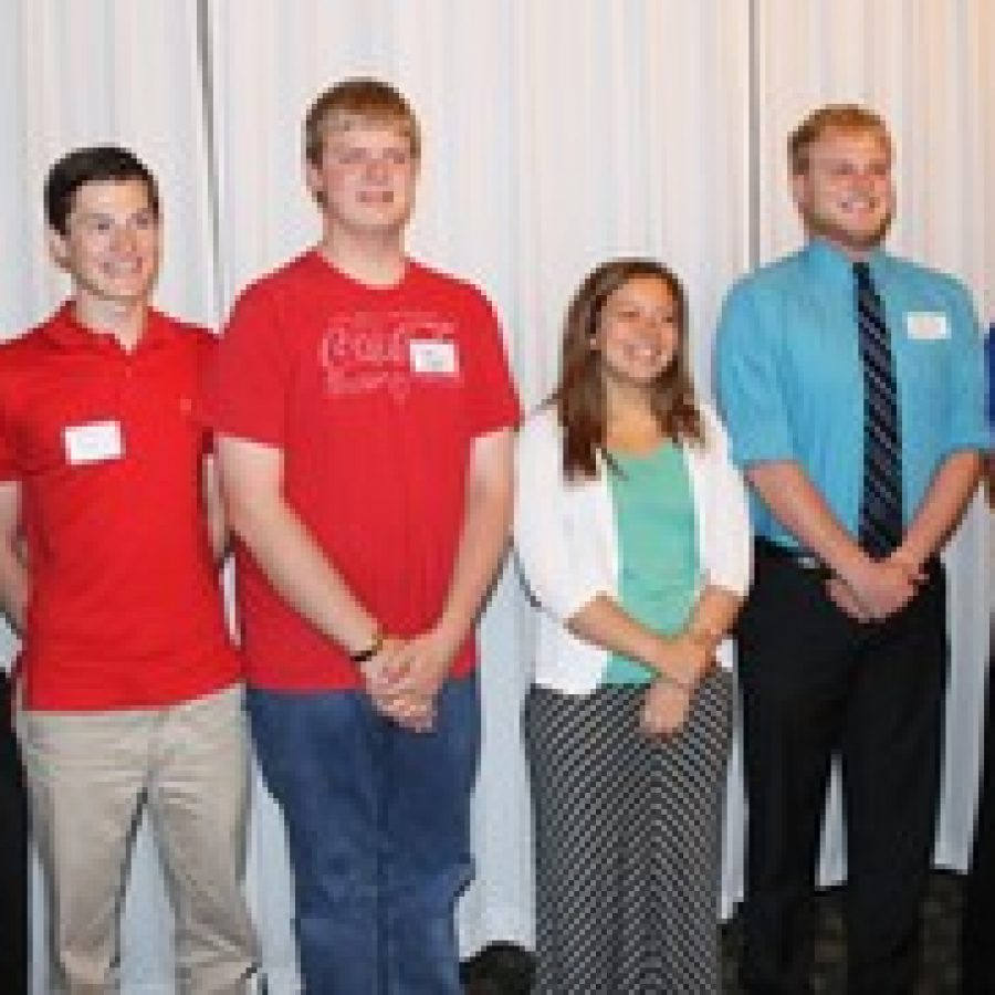 Oakville and Mehlville high students recognized as National Merit Schlolars, from left, are: Ian Hurt, Christoper King, Michael Menkhus, Bridgette Pagano, Andrew Ludwig and Andrew Oliver.
