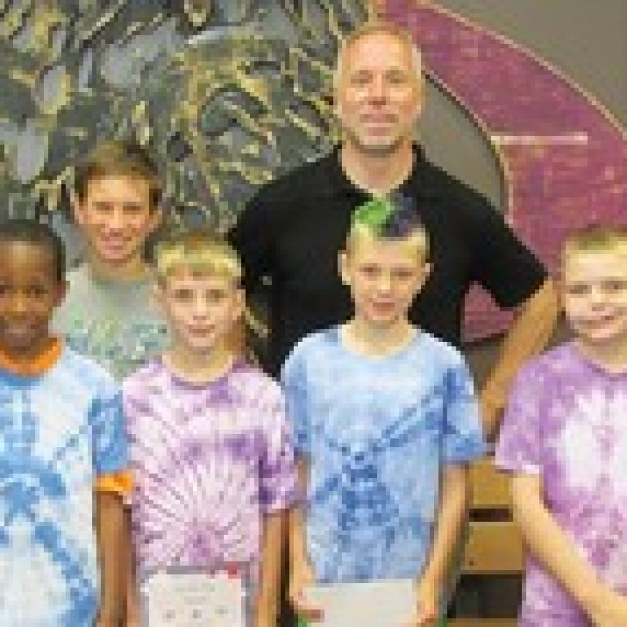 Terrific Kids of the Month at Hagemann Elementary.