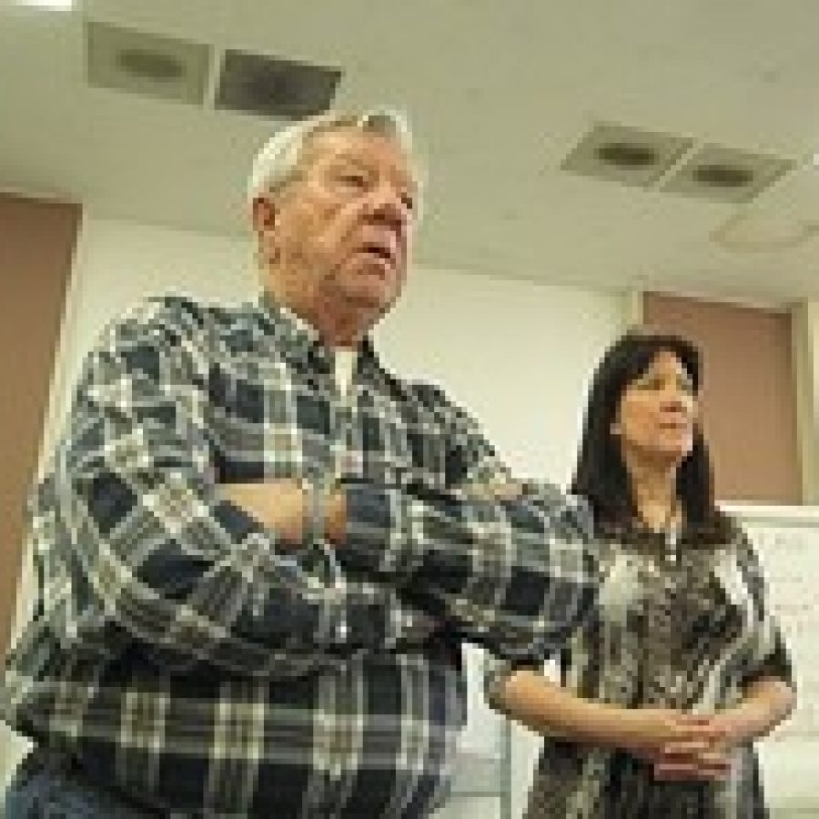 Green Park Mayor Bob Reinagel and Ward 1 Alderman Carol Hamilton allege that sinkholes given as the reason for moving the Tesson Ferry Branch Library do not exist.