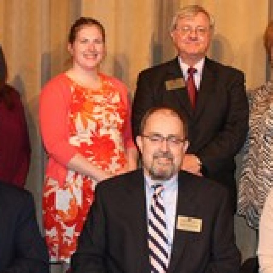 The Melville Board of Education elected new officers last week during its annual reorganization meeting. Pictured, front row, from left, are: Vice President Venki Palamand, President Ron Fedorchak and Secretary Lori Trakas. Back row, from left, are: board members Samantha Stormer, Kathleen Eardley, Larry Felton and Jean Pretto.