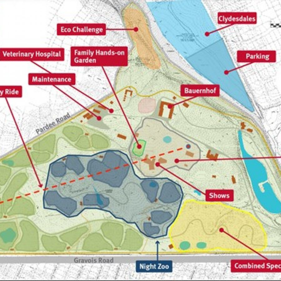 The St. Louis Zoo's depiction of what Grant's Farm could look like under zoo ownership.