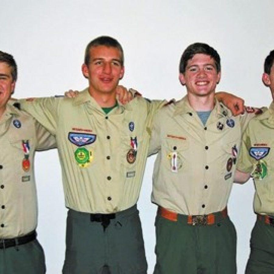 Four Boy Scouts earn Eagle rank