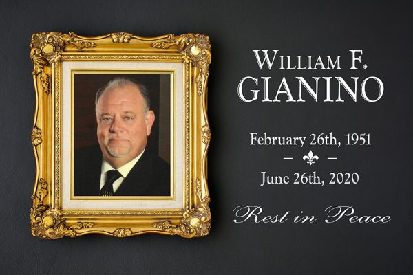 The Gianino's family of restaurants posted this tribute to patriarch Bill Gianino after his death Friday.