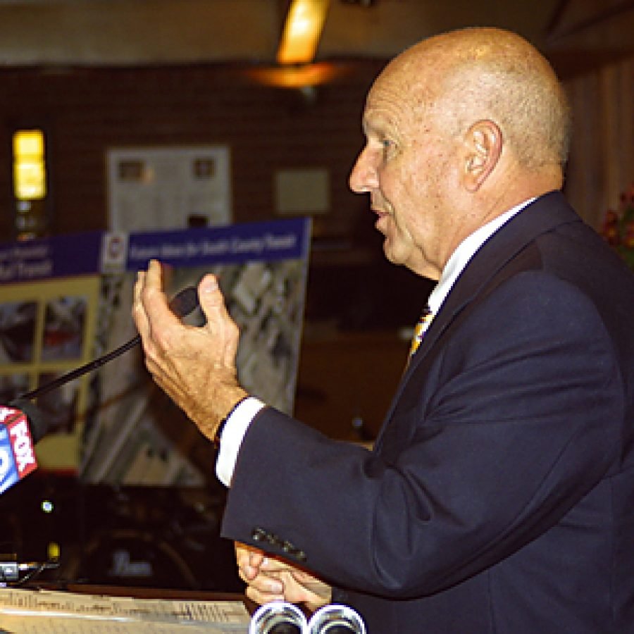Bob Baer, Metro president and chief executive officer, discusses the transit agen-cy's 'new commitment to fiscal responsibility and fiscal integrity ...' during a public transit forum Saturday at Zion United Methodist Church. Bill Milligan photo