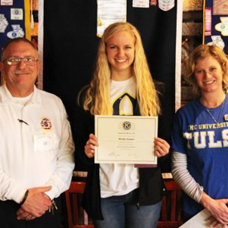 Kiwanis Club honors LHS Student of the Month