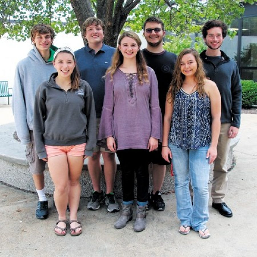 Seven Lindbergh High School seniors have been named Commended Students in the 2017 National Merit Scholarship Program. Pictured, back row, from left, are: William Goetz, Indiana Jancich, Tyler Castro and Daniel Kovach. Front row, from left, are: Rachel Miyazaki, Kaitlyn Behrens and Lydia Powers.