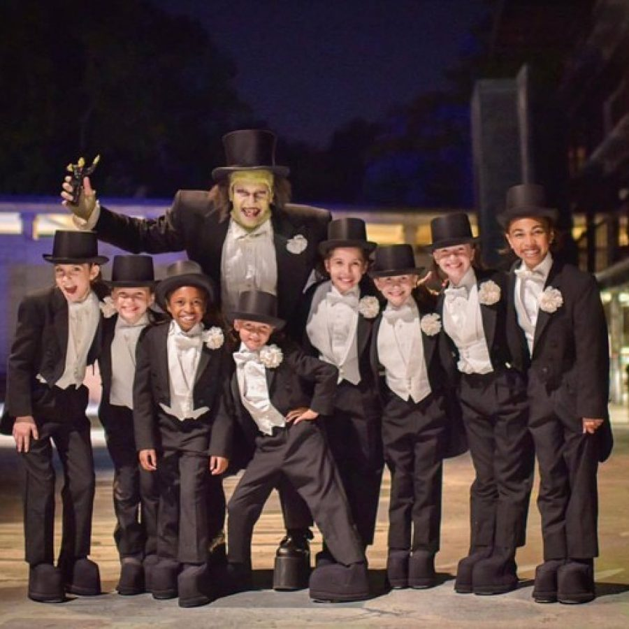 Young actors in The Muny's production of 'Young Frankenstein' this summer wore tuxedos from Stallone's.
