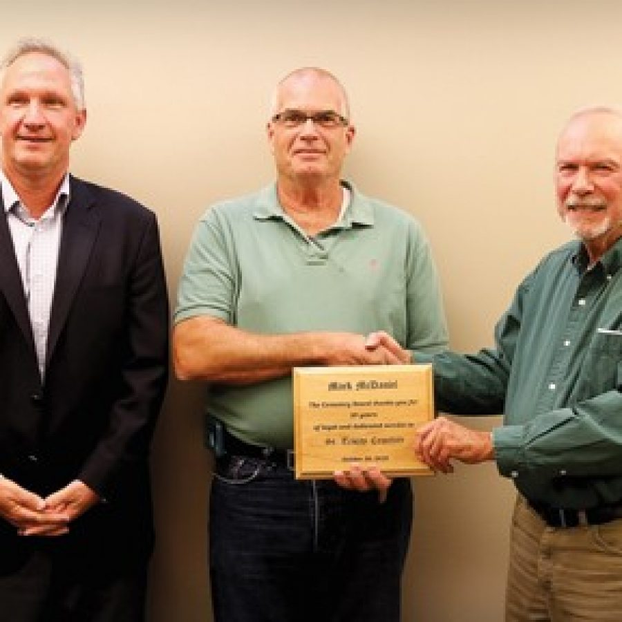 St. Trinity Cemetery superintendent honored