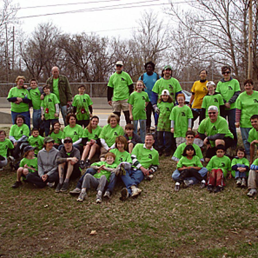Sappington students help clean creek