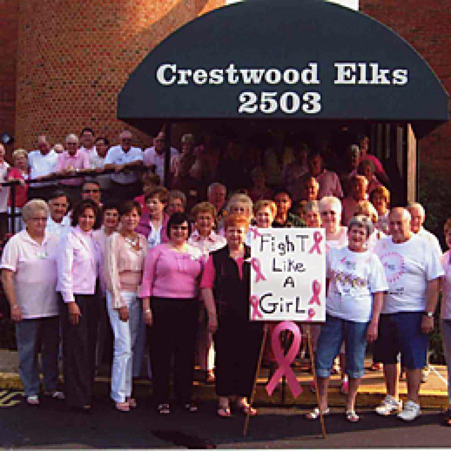 Crestwood Elks go pink