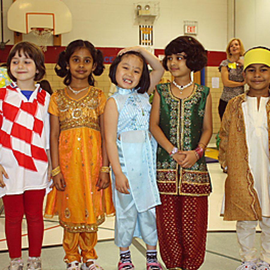 School celebrates pupils nationalities