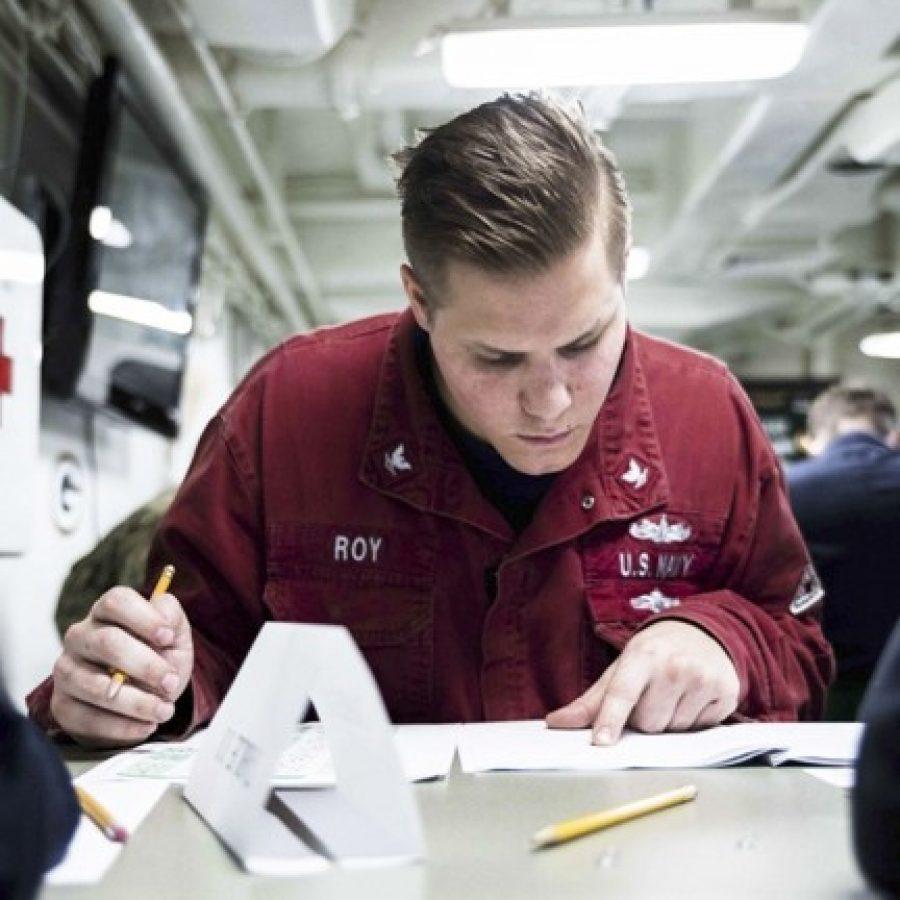 Fenton sailor takes Navywide advancement exam
