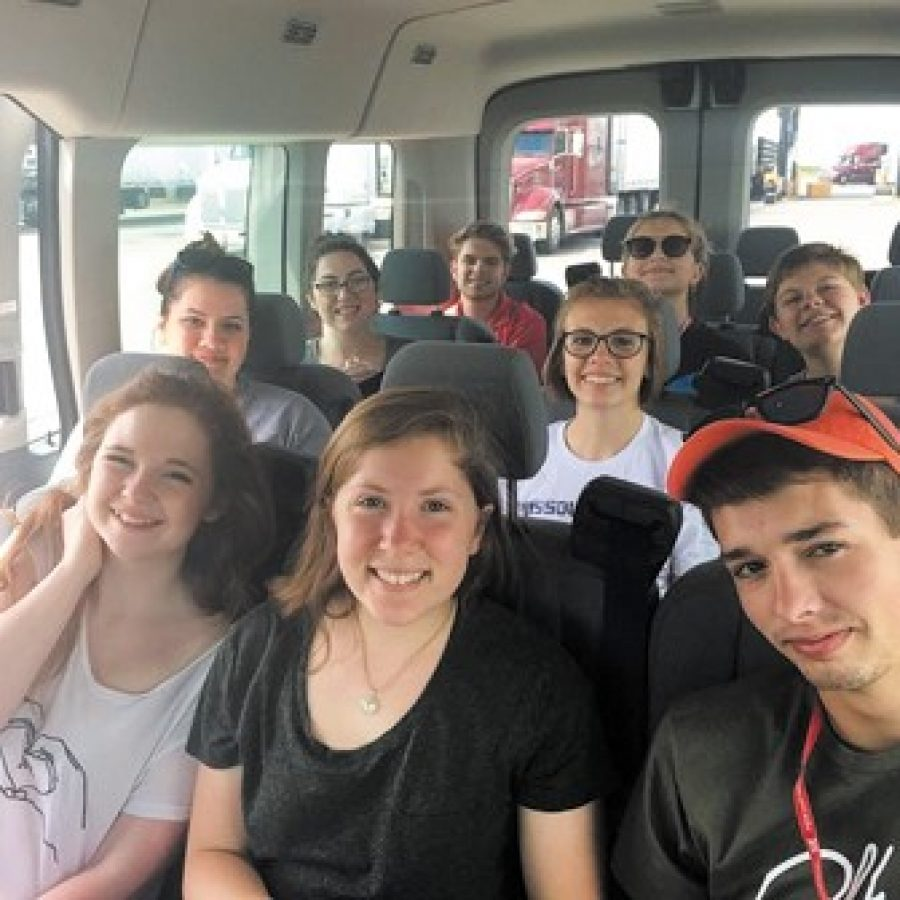 These drama students from Mehlville High School who attended the International Thespian Festival began their drive home filled with exciting memories and knowledge that will help them in the future.