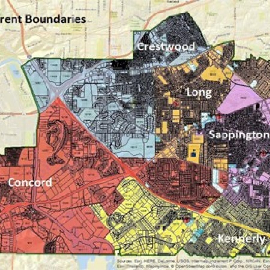 Pictured above are the current boundaries for Lindbergh Schools' elementary schools.