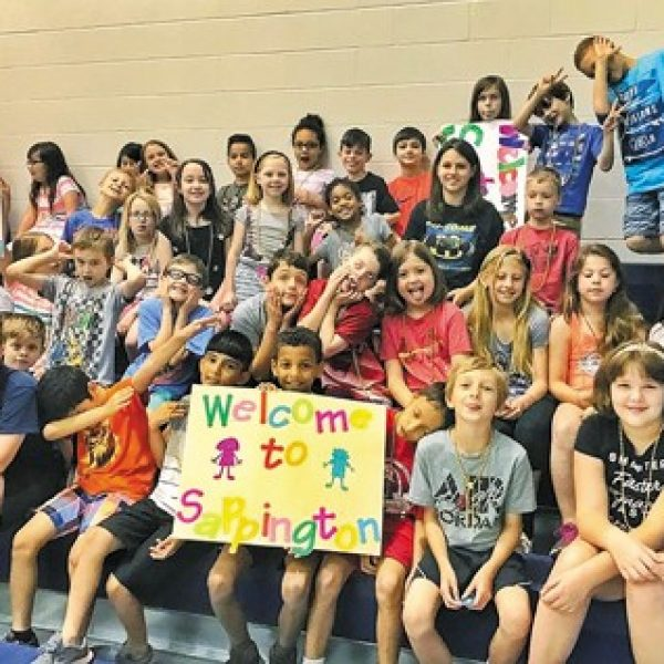 Sappington Elementary school students and staff recently welcomed several new friends from Long Elementary School during a districtwide 'Fly Over Day' that allowed students impacted by redistricting to visit their new schools.