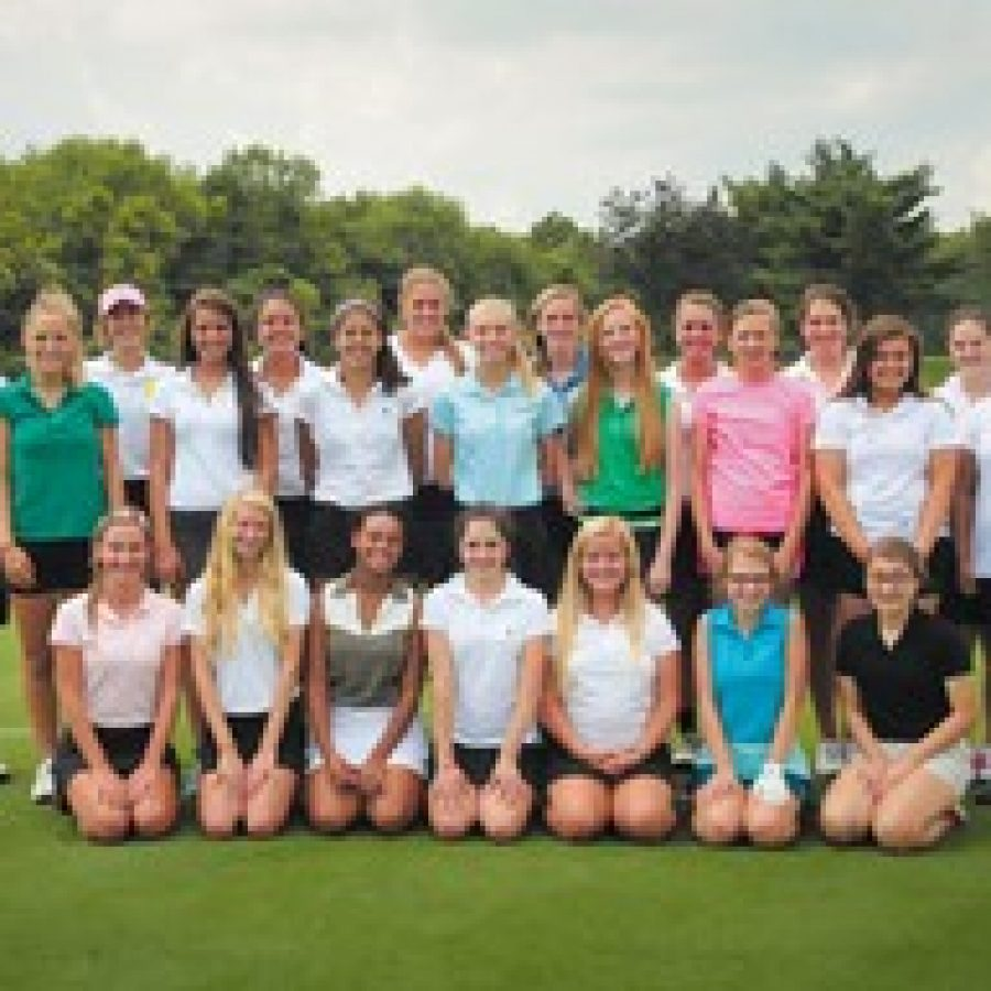 Brandon Benefield photoThe Lindbergh High girls' golf team boasts many new members this year who are willing to learn, said head coach Mike Tyler.