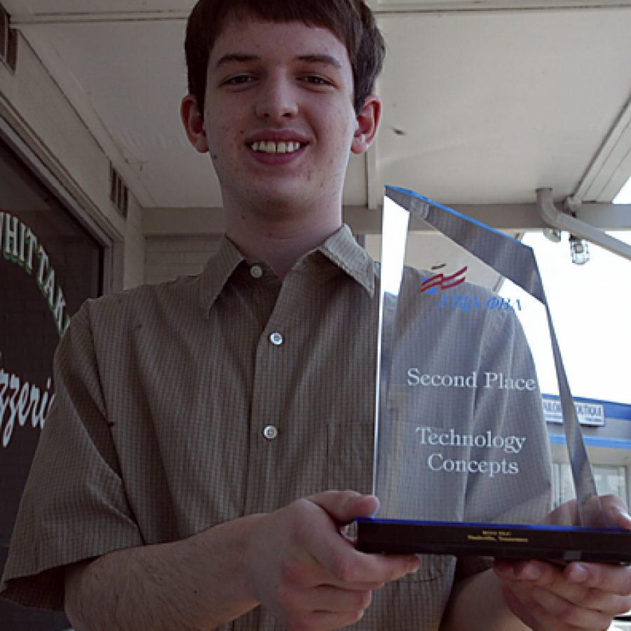 After winning the state competition, Eric Bright went on to capture second place for technology concepts in the Future Business Leaders of America's national contest. Bill Milligan photo
