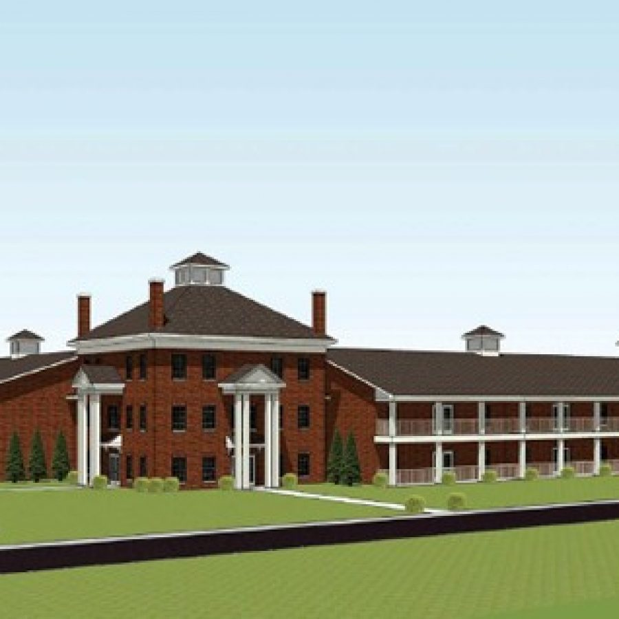 A rendering of 'The Commons at Jefferson Barracks' proposed for Mehlville School District property.