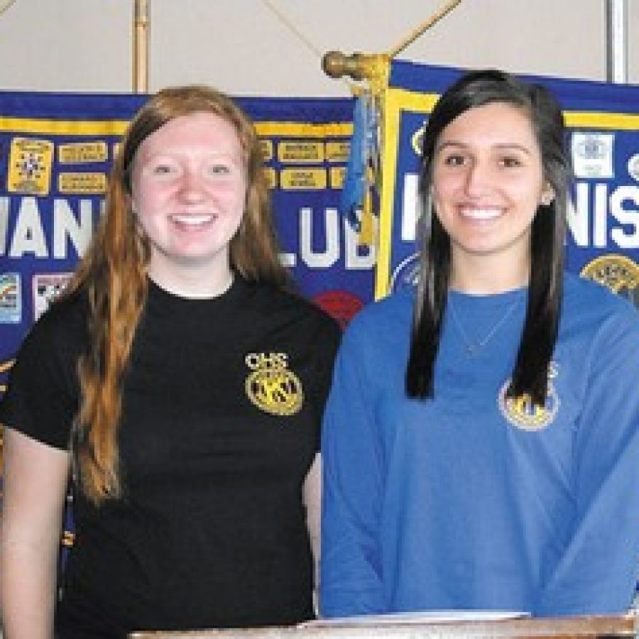 Makayla Appel and Alexandria Elder of the Oakville Senior High School Key Club.