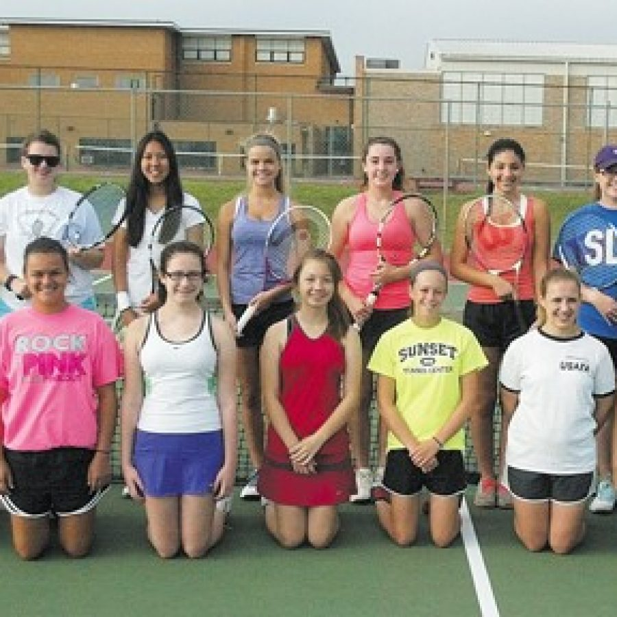 Lindbergh High head Laura Conti is pleased with the returning players to her tennis squad, including sisters Kat and Alex Rosenberger.
