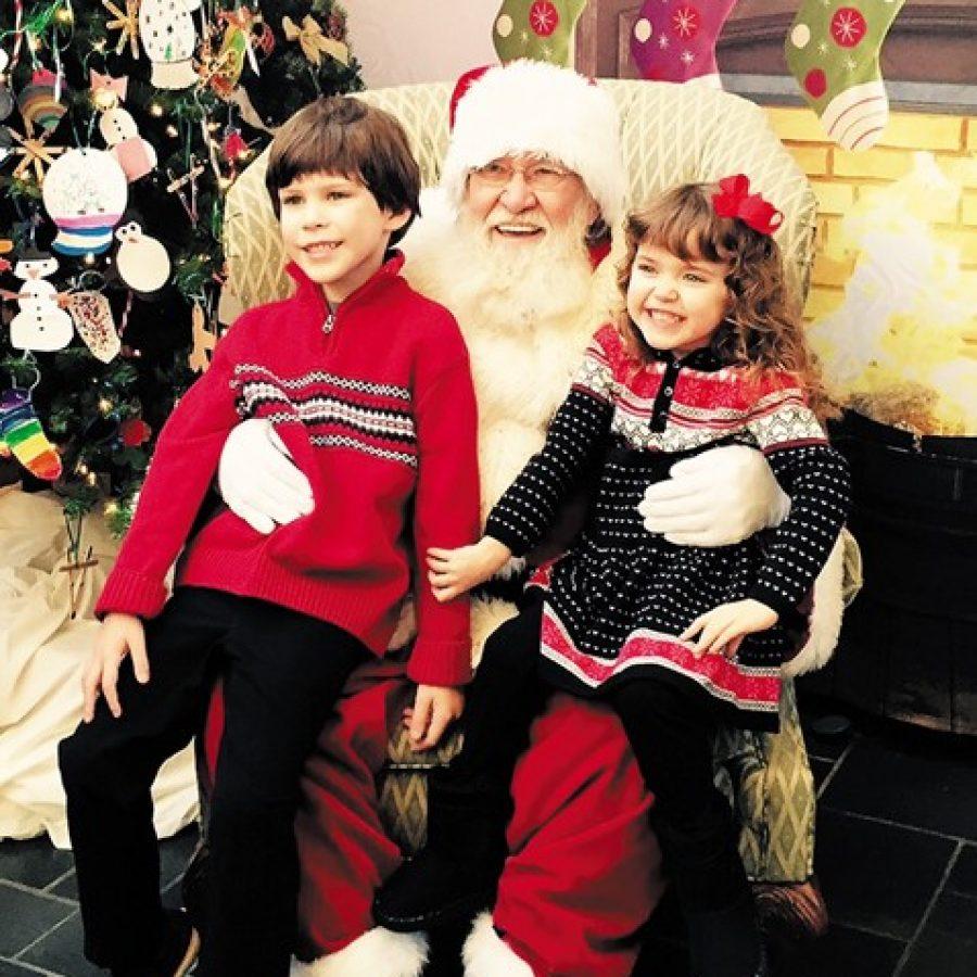 Santa Claus visits Crestwood