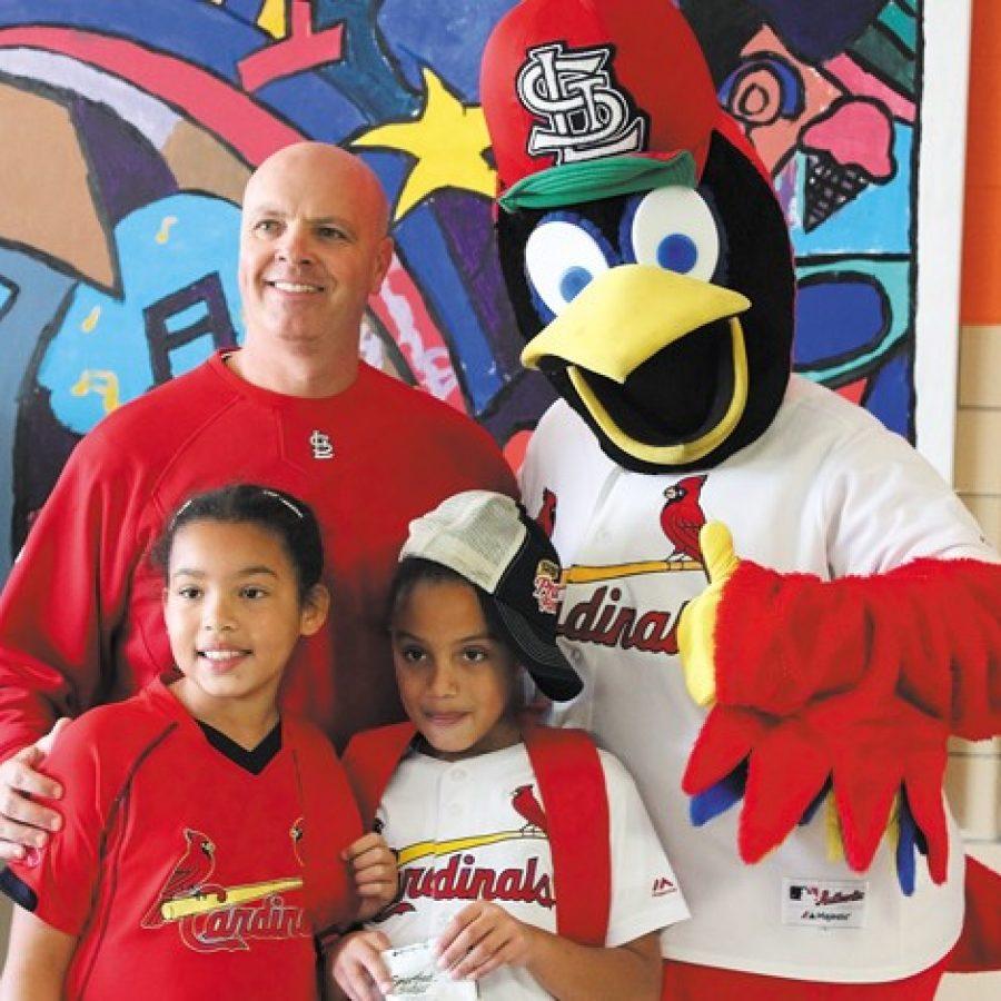 Fredbird visits Kennerly Elementary