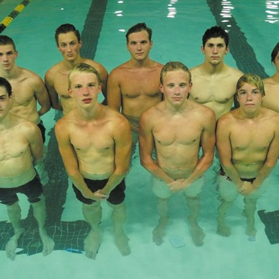 Oakville High head coach Dan Schoenfeldt says that despite having a small number of swimmers this year, over half are experienced seniors.