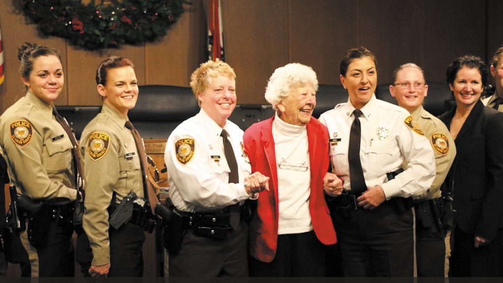 First+female+county+police+officer+honored